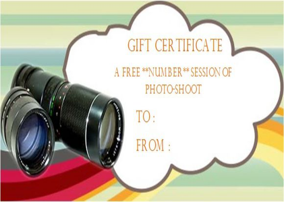 Photography Gift Certificate Template: 27+ PSD, Word Templates ...
