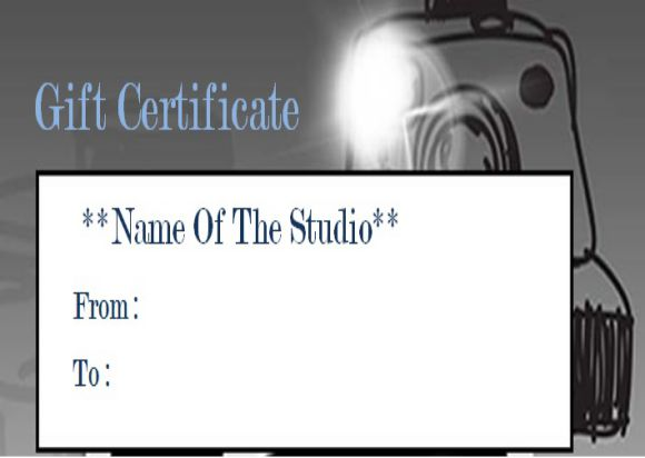 Photography Gift Certificate Template photoshop