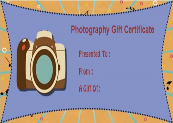 Photography Gift Certificate Template photoshop free