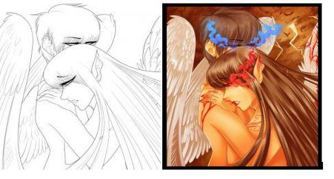 Anime Love Drawing