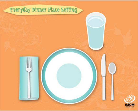 casual dinner place setting template