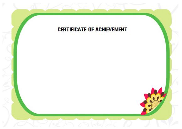 Blank Certificate of Achievement