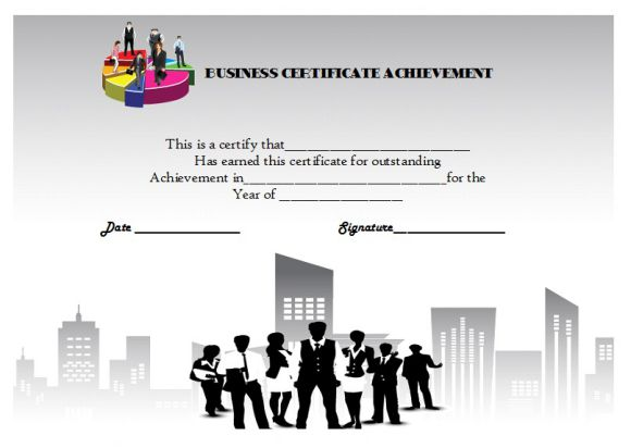 Certificate of achievement template 32 word templates skillful certificate of business achievement yelopaper Choice Image