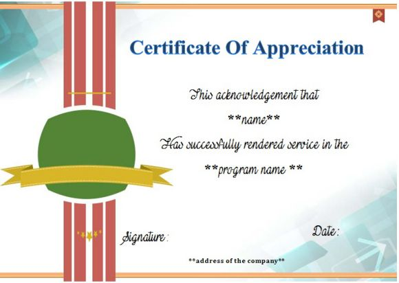 certificate for 10 years of service template