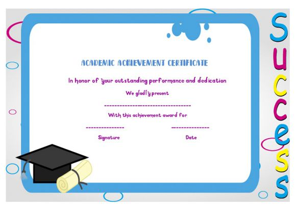 Certificate of Academic Achievement