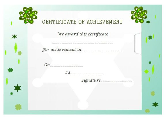 Certificate of achievement template 32 word templates skillful certificate of achievement template yelopaper Choice Image