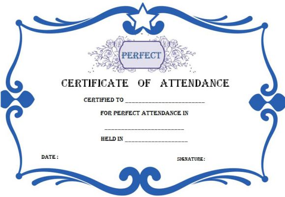 Certificate Of Attendance Template Word
