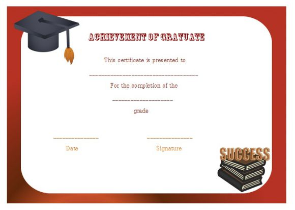 certificate of graduate achievement