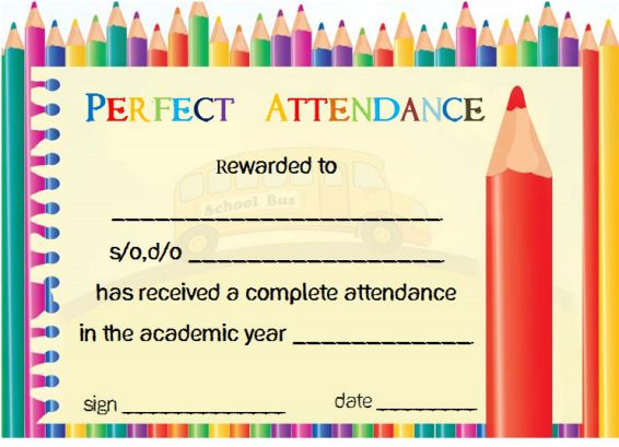 Certificate Of Participation Template School