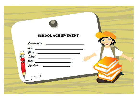 certificate of school achievement