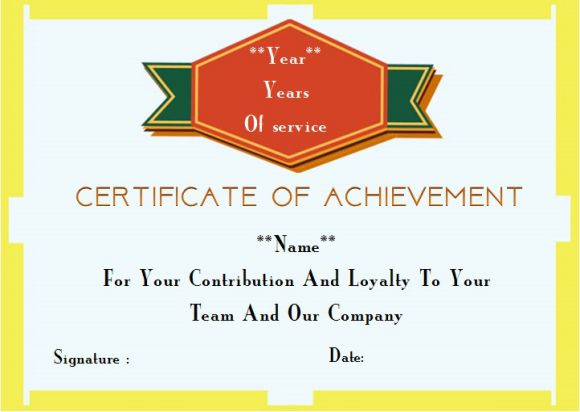 certificate of service template for domestic worker