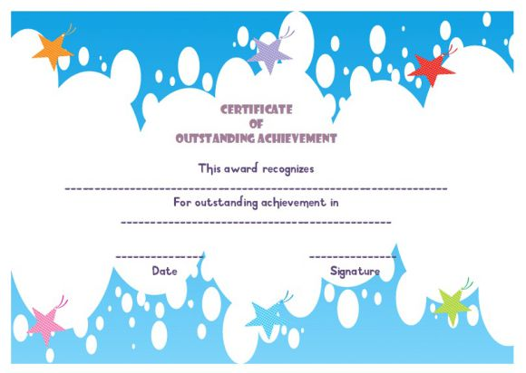 certificate of outstanding achievement
