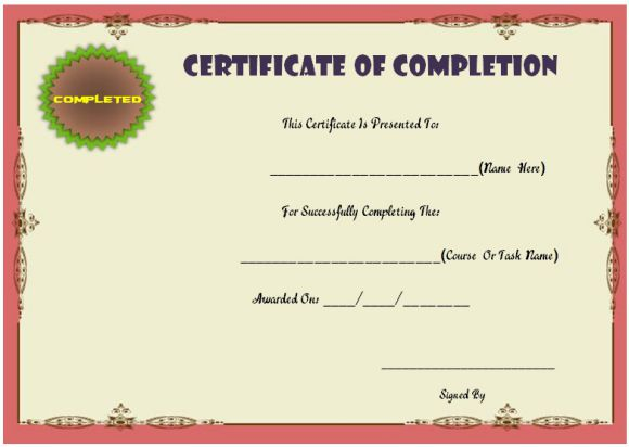 Course attendance certificate template 10editable word templates course attendance certificate templates yelopaper Image collections