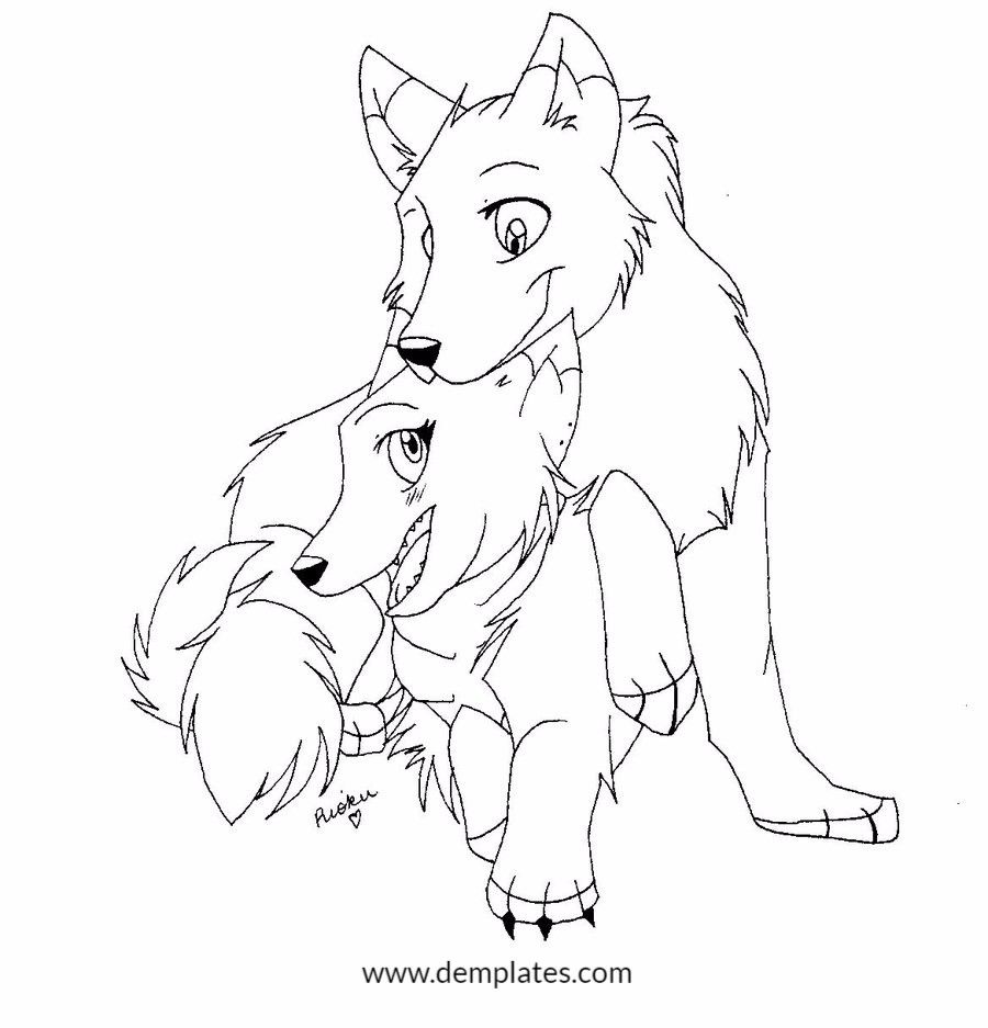 Cute Wolf Love Drawings - 3_2