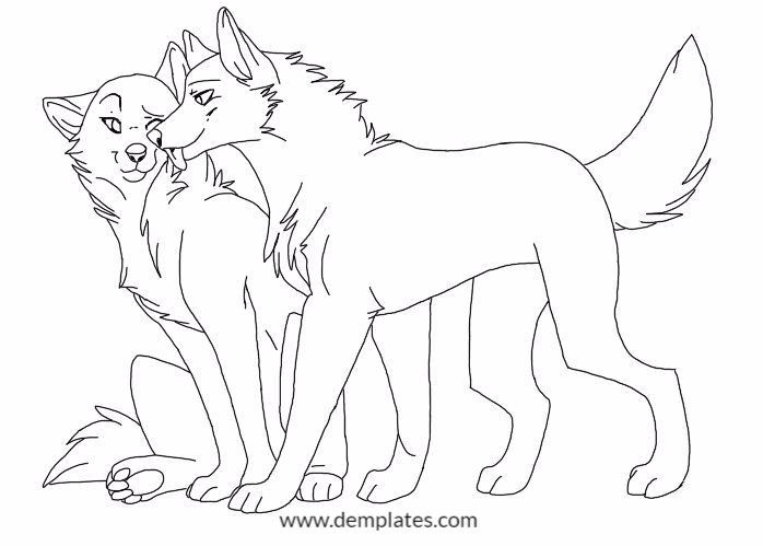 Cute Wolf Love Drawings