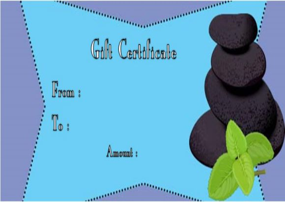 Day spa gift certificate templates