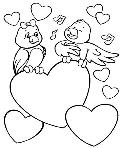 Drawing Pictures Of Lovebirds