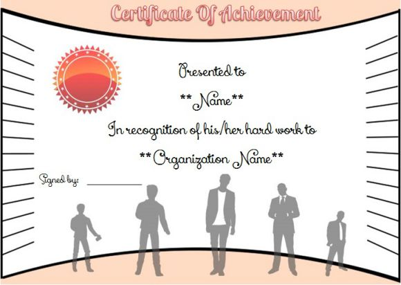 employee year of service certificate template