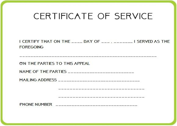 24 certificate of service templates for employees formats for Certificate of service template