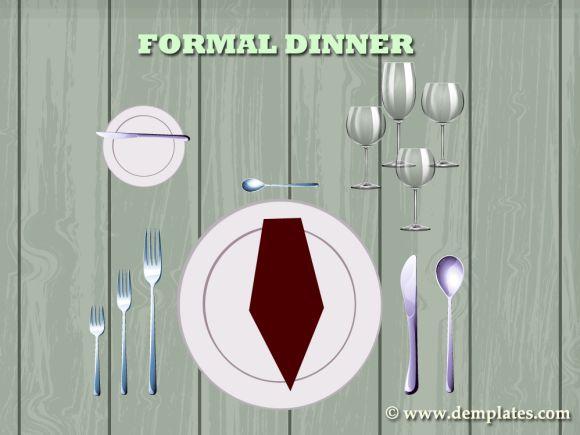 Formal Dinner - Table Setting Template