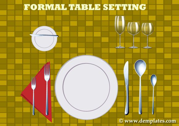 Informal And Formal Place Setting Template