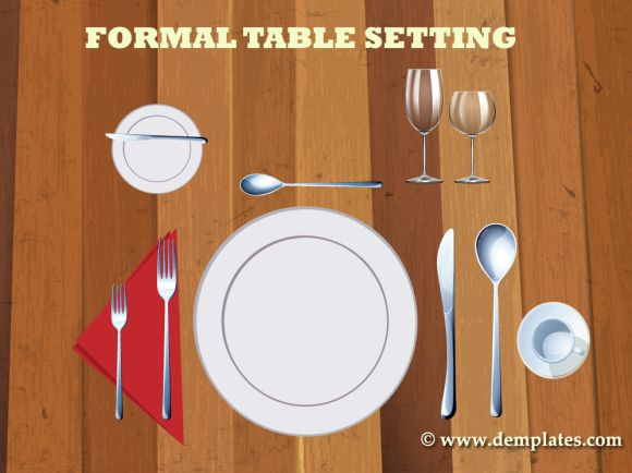 Formal Table Setting Template 2