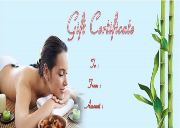 Free nail salon gift certificates template