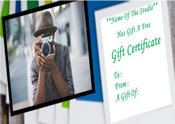Gift certificate template for photo session