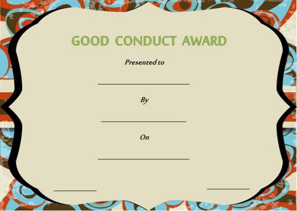 Good conduct certificate sample letters
