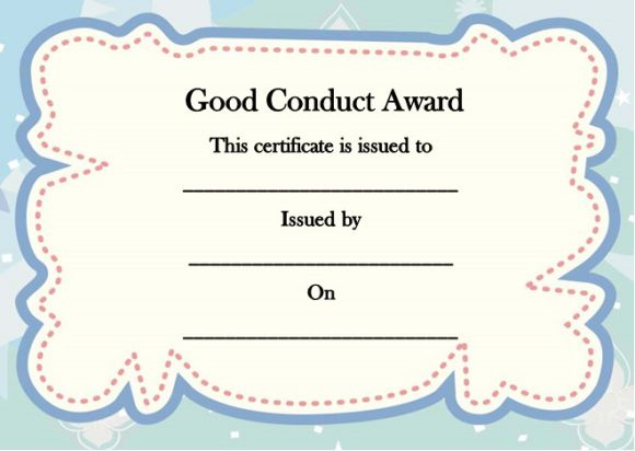 Good conduct certificate templates