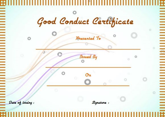 Navy Good Conduct Certificate Sample Choice Image