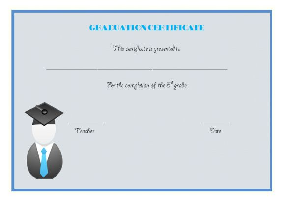 Graduate certificate for 5th grade