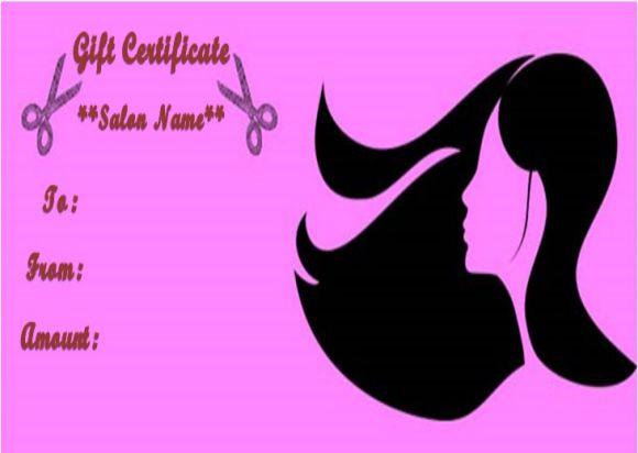 Hair salon gift certificates