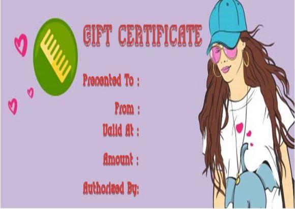 Hair salon gift vouchers