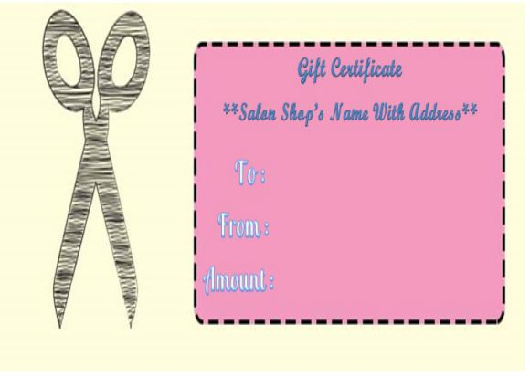 21 printable salon gift certificate templates to attract for Haircut gift certificate template
