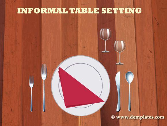 Informal table setting template