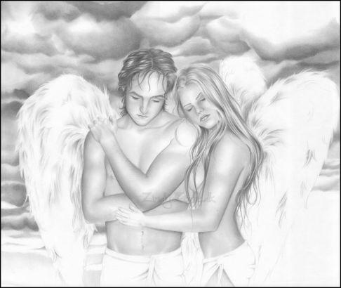 Love Angel Drawing
