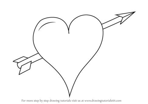 Love Arrow Drawing