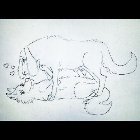 Love Dog Drawing