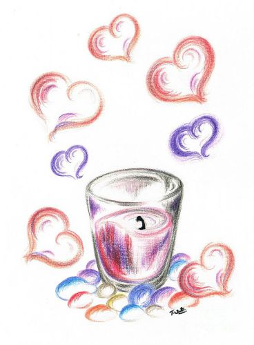 Love Drawing Candle