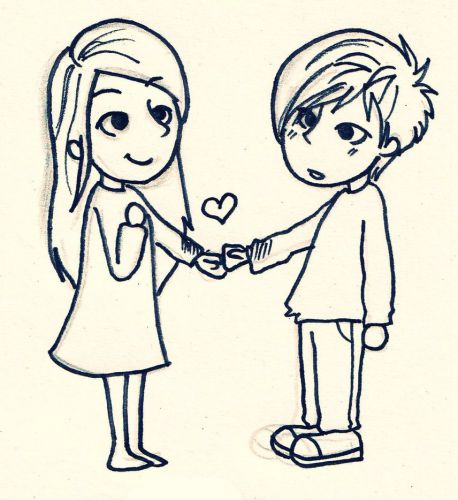 Love Drawing Cartoon