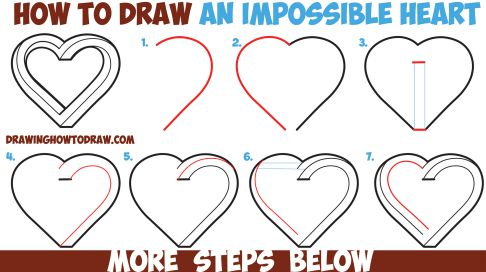 Love Drawing Ideas Step By Step
