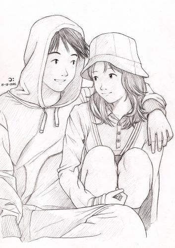 Love Drawing Of Couple