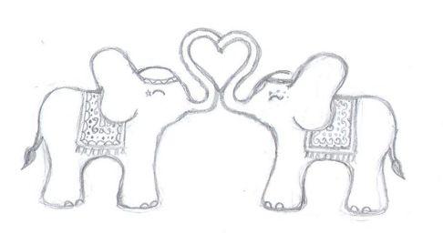 Love Elephant Drawing