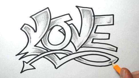 Love Graffiti Drawing