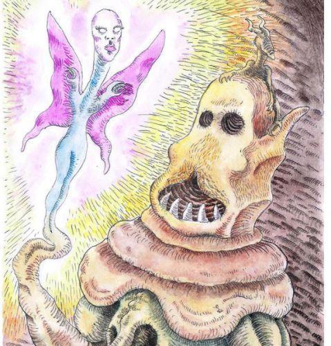 Love Monster Drawing