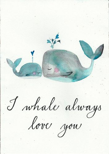 Love Whale Drawing
