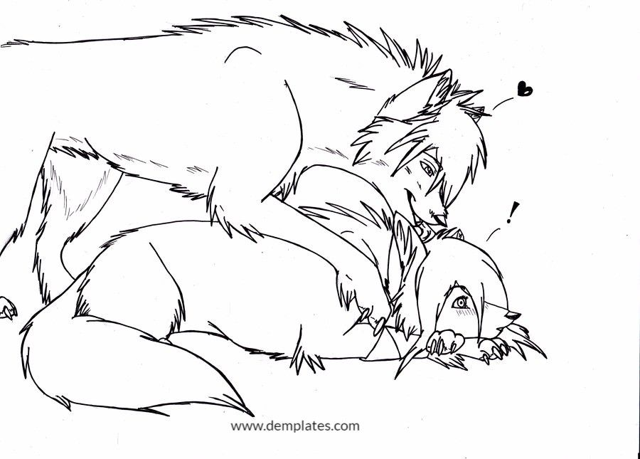 Role of wolf in love drawing - 5
