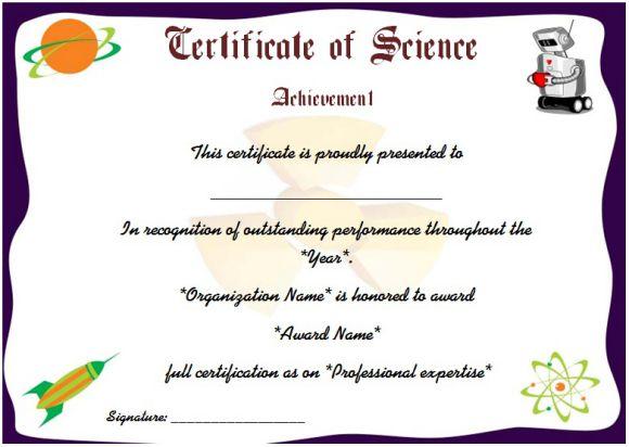Science Fair Participation Certificate : 11+ Free Editable