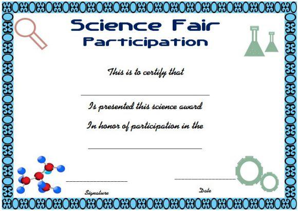 Science exhibition participation certificate